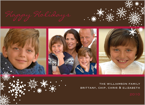 Shutterfly's Snow Flurries Cocoa Christmas Card