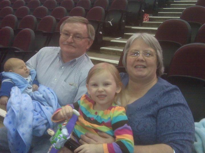 Grace, Darren, Grandma and Grandpa