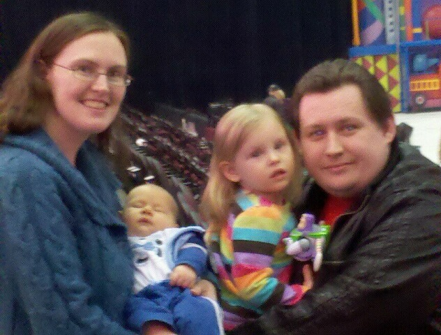 The Rouzzo family at Disney On Ice: Toy Story 3