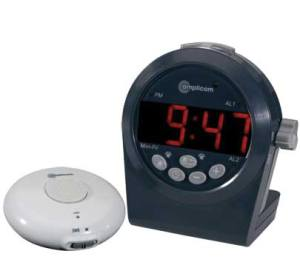 Amplicom TCL 200 Digital Alarm Clock with Wireless Vibrating Pad