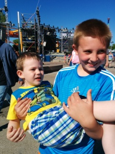 Cousins at Cedar Point