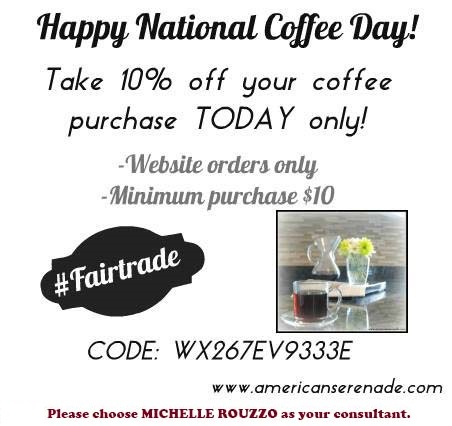 National Coffee Day 10% off