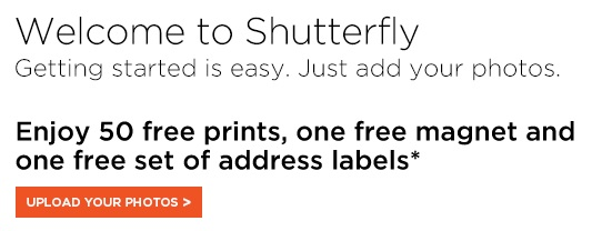 Shutterfly Free Prints on Sign up