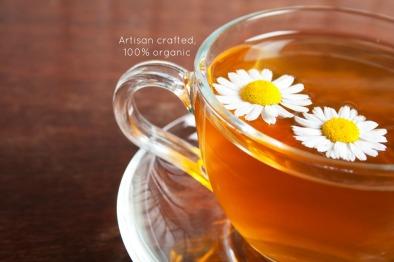 chamomile tea closeup